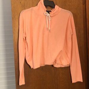 Orange slightly cropped hoodie